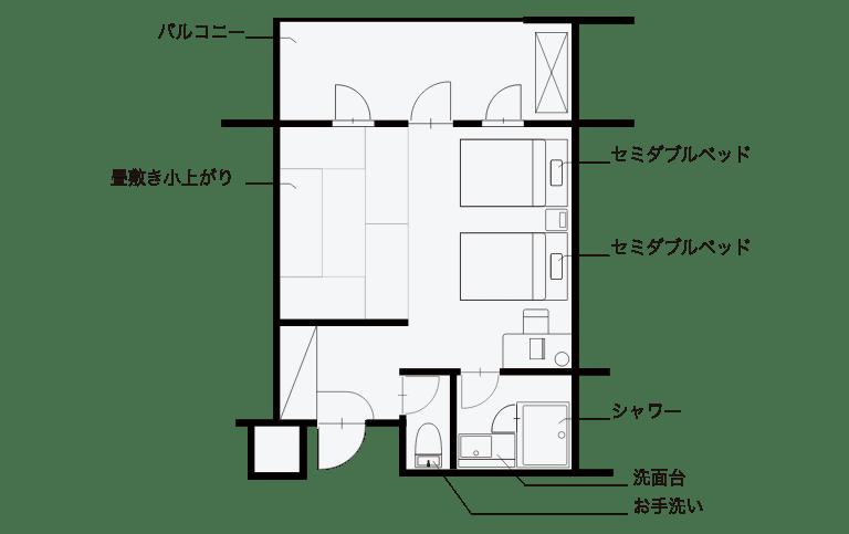 写真:B-TYPE間取り図